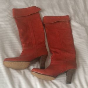 Anthropologie COCLICO Tall Boots Heel Fold over